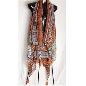 Jackets & Blazers - Vest, Tribal, multi colored w/ Tassels NWOT